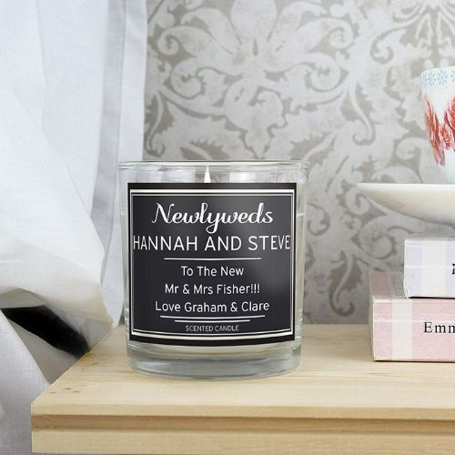 Personalised Black Scented Jar Candle